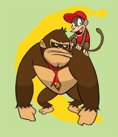 DK and Diddy by joshnickerson