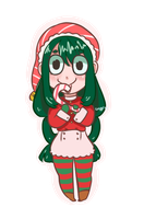Christmas Froppy! by gh0stbun