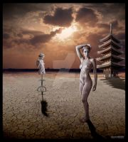Statues in the desert by lbenson