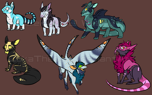 Tiny Dragon Aliens (updated) by ttaKeibbaT