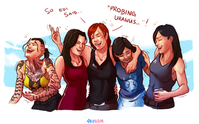 Girls Night Out by skyllianhamster