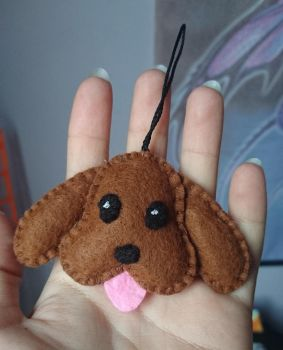 Makkachin plush keychain by Anonymous---Lucifer