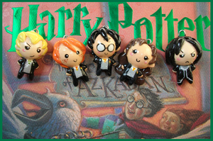 Chibi-Charms: Harry Potter by MandyPandaa