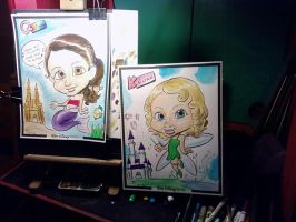 Sisters Caricature by RizzleG
