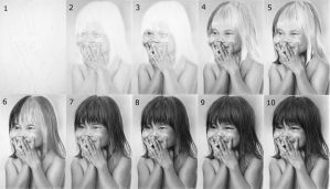 Nhu Hidden Smile drawing process by LateStarter63