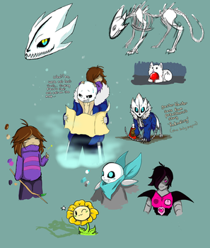 Undertale Sketches 2 by SweetSugerApple