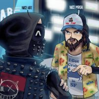 Wrench and T-Bone Watch Dogs 2 by smokeragon