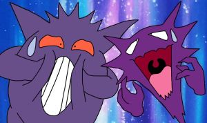 Gengar And Haunter Derp Faces by GEORDINHO
