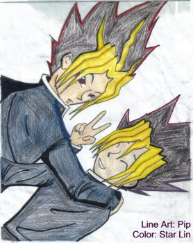 Yami and Yugi, coart by Star-Lin