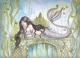 Black Haired Mermaid by lorikarels
