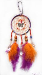Butterfly Crystal Dreamcatcher by EmilyCammisa