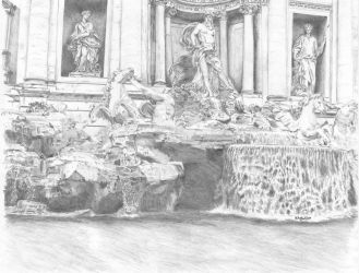 Trevi fountain by metalliphil