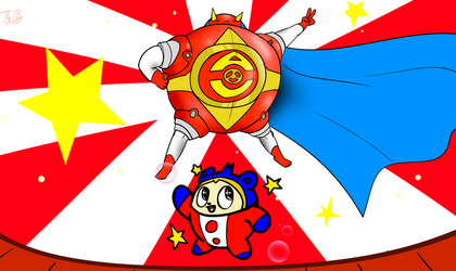 Teddie and the very Round Hero by Carbonated-James
