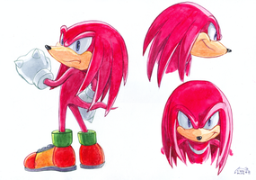 Knuckles sketches by Liris-san