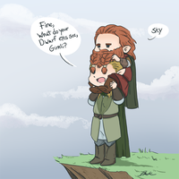 LotR - Legolas and Gimli by caycowa