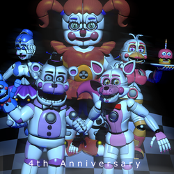 FNaf 4th anniversary (Late) by The-Smileyy
