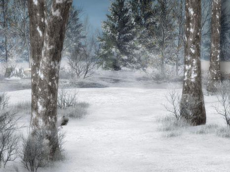 Winter Background 4 by BlackStock