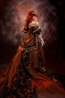 Madam Mercy's Grandfather Clock Ballgown (Back) by SubconsciousDreaming