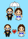 Custom Bride and Groom Pixel Art Images by emmadreamstar