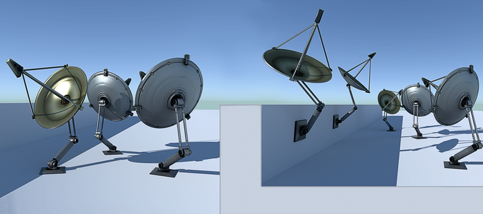 Satellite Dishes for BI, BGE and Cycles by DennisH2010