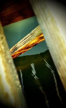 iPhone: Reflected Sunset by CapturedCosmicDebris