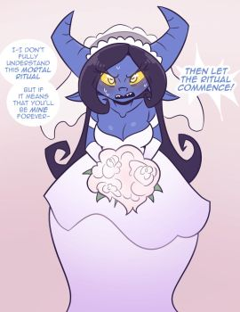 A witch in a wedding Dress by Cobatsart