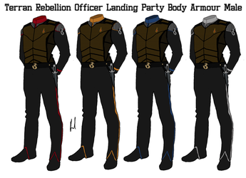 Terran Rebellion Officers Male Body Armour by docwinter