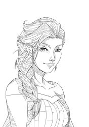 Elsa - outline by rithgroove