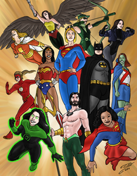 My Justice League by SteveNoble197