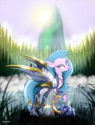 Hippogriff Silverstream - Colored by ZidaneMina
