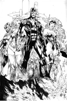 X-men by Ed Benes by JPMayer