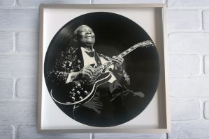 B.B. King painted on vinyl record by vantidus