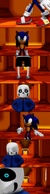 Face off-Sans vs Sonic by Gheroes48