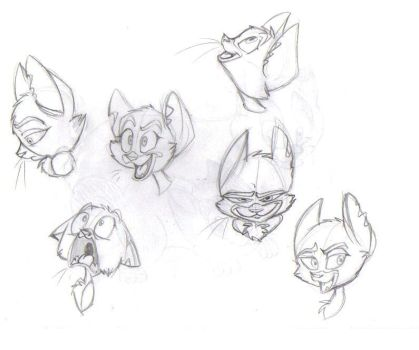 Mittens Sketches by Blue-Lobo