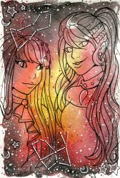 Galaxy Portrait Equinox and Vesta by nickyflamingo