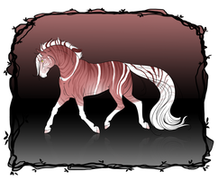 [CLOSED Auction] Rainbow Horse Designs - RED #1 by xX-LamiaLuna-Xx