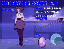 Luminaries Court NPC: Purple Pearl by SummaBadger