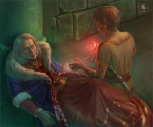 The death of Uriel Septim by Nafrin
