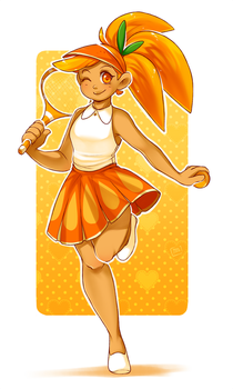 Orange Cookie by MagicalZombie