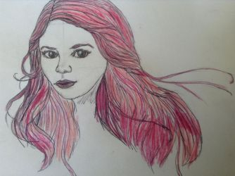 Pink-Haired Chick by animalsketchsisfun