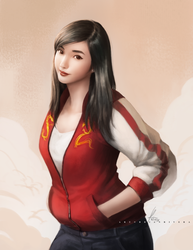 Casual Mulan Fanart by OOQuant