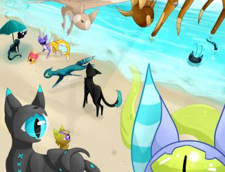 Cyclot's beach by SilverLoon