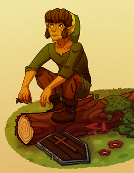 Link On A Log by Chirko