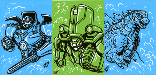 Sketchie Cards for G-Fest XXI 1/2 by AlmightyRayzilla