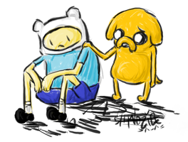 Finn and Jake by shmozie