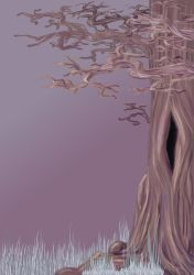 Tree Of Birds WIP by Alqualaure