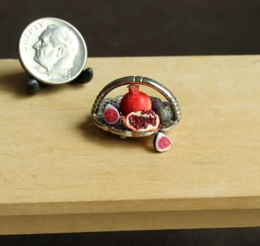 1:12 Scale Figs and Pomegranates by fairchildart