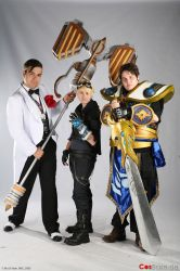 Jayce, Ezreal and Garen by DeadlySmoke