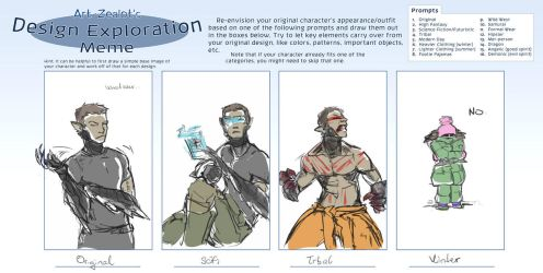 Design Exploration Meme: HUNTER by Laitiel