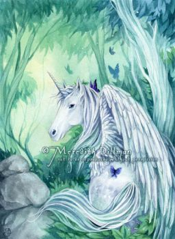 Unicorn in the forest... by MeredithDillman